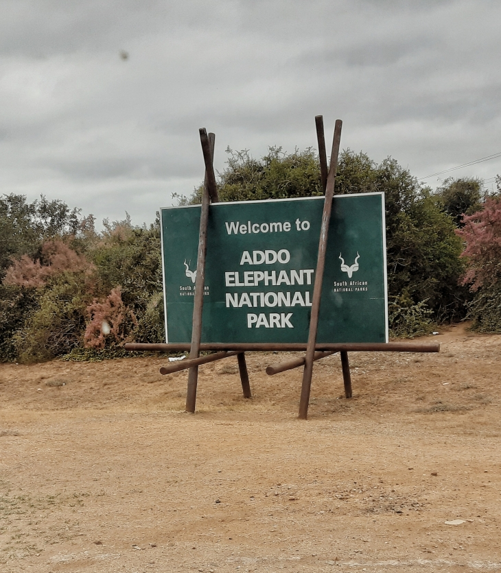 addo elephant national park sign