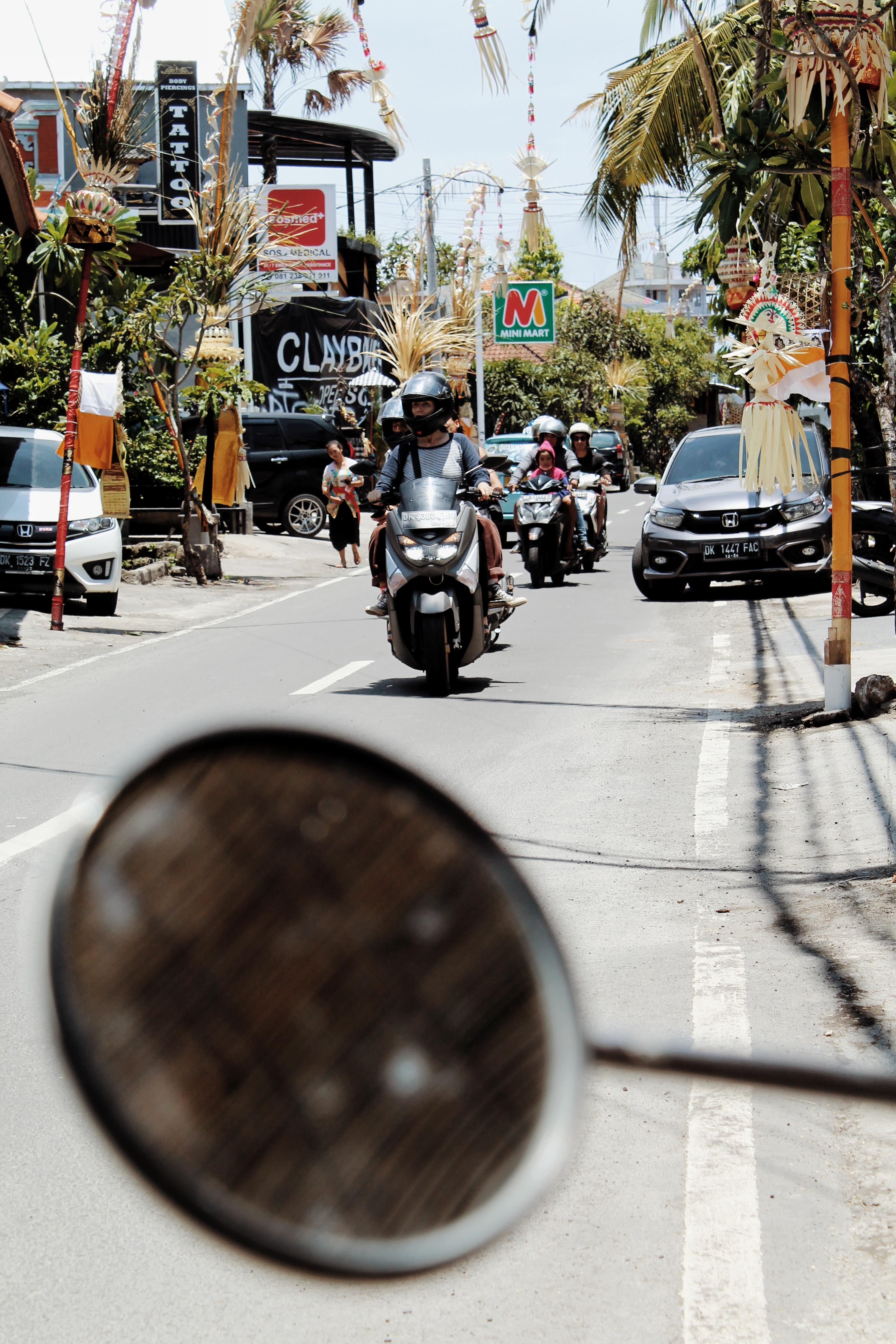 motorbike on the street in bali