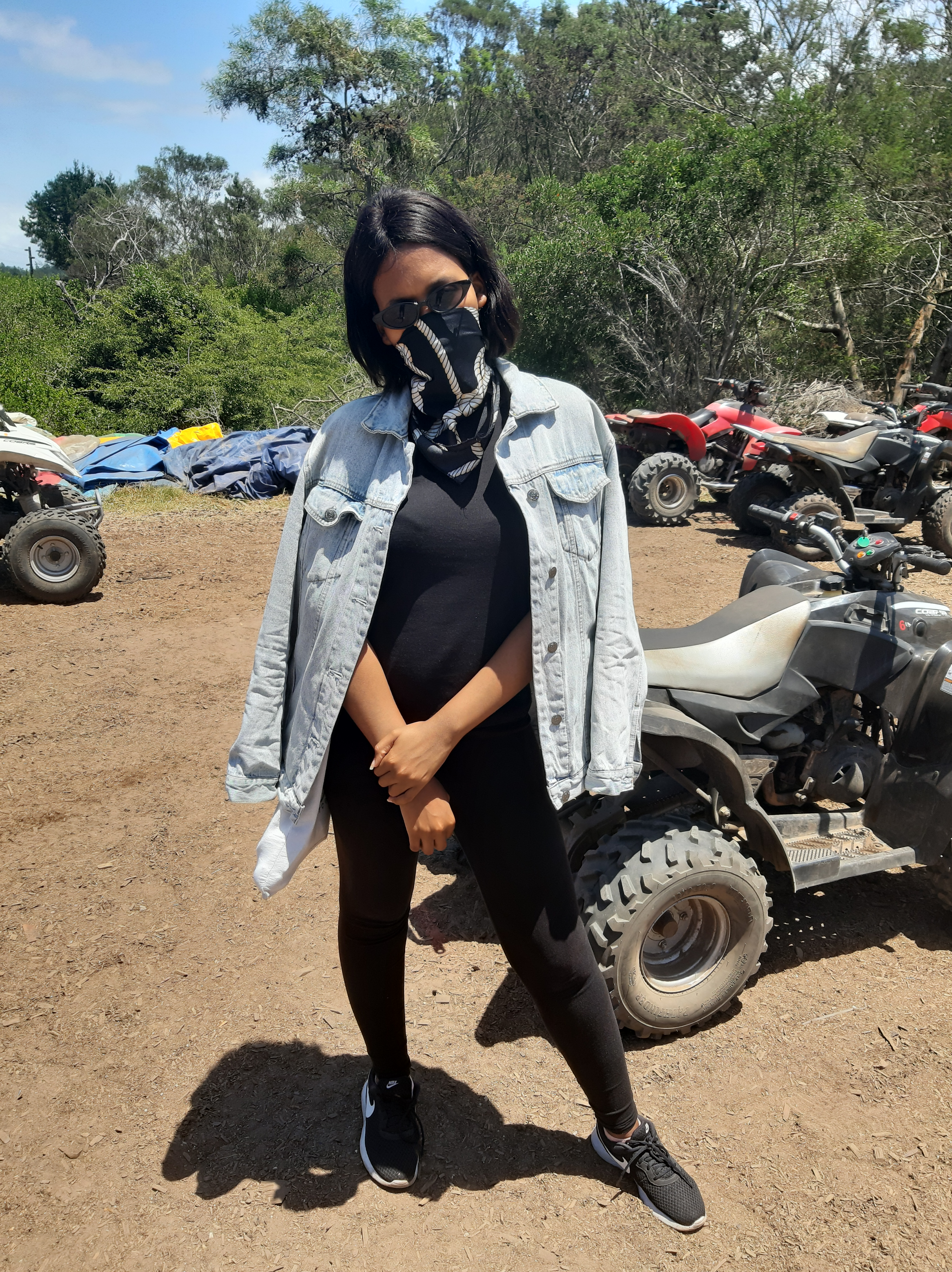 khalipha ntloko with glasses and black clothing for quad biking in western cape at wild x adventures