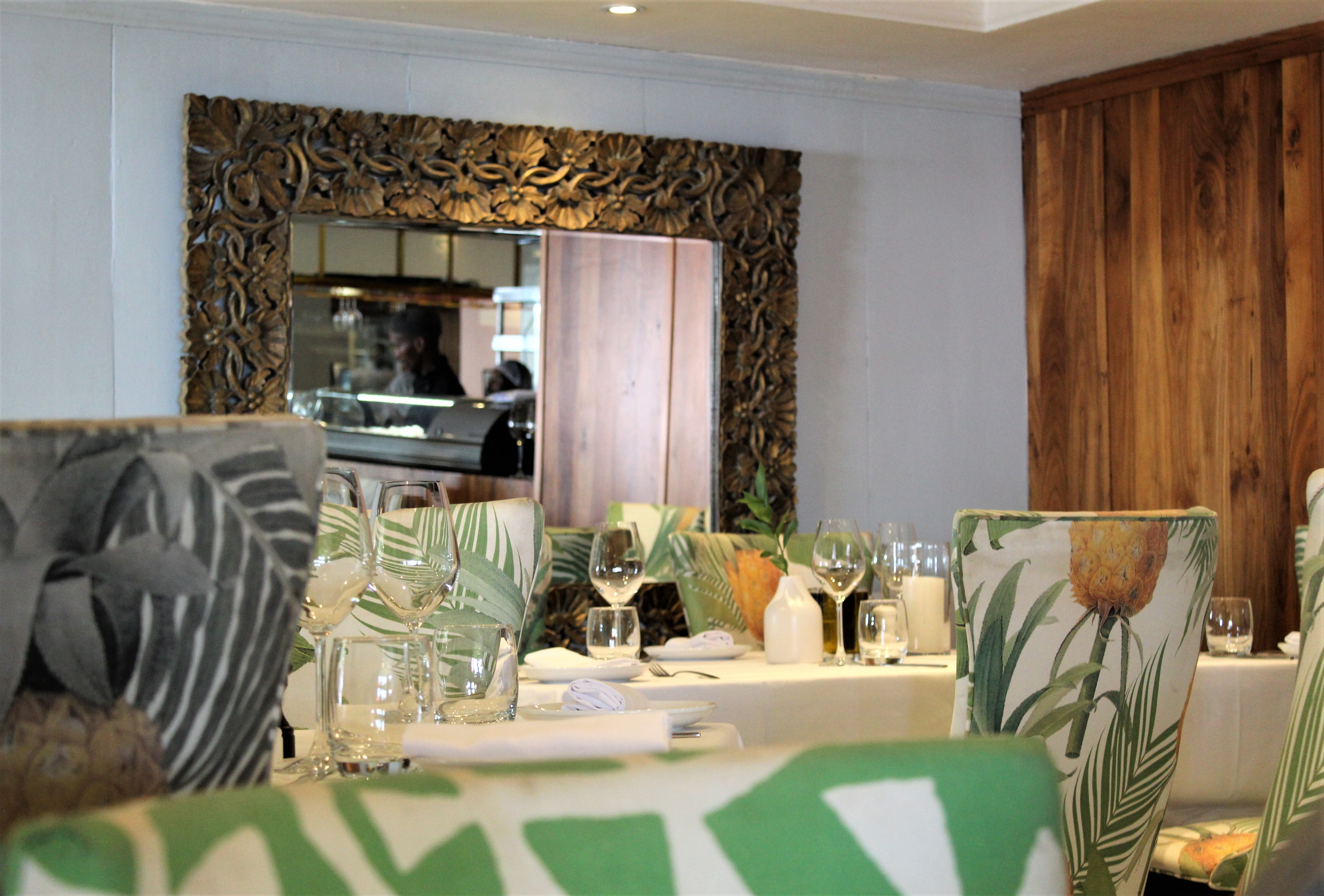 sevruga restaurant at V&A waterfront cape town with mirror and interior decor